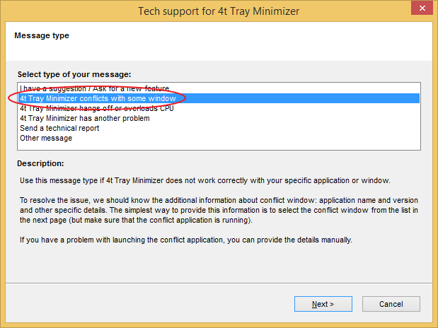 Tech support for 4t Tray Minimizer